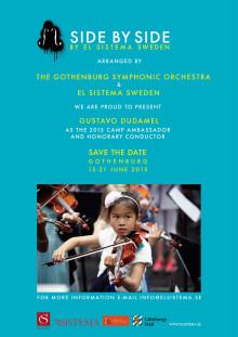 Gustavo Dudamel blir ciceron och hedersdirigent för Side by Side - by El Sistema Sweden 2015