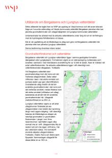 Utlåtande om Bergaåsens och Ljungbys vattentäkter