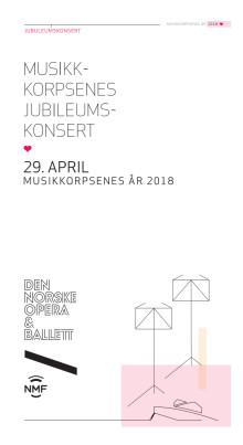 Program for jubileumskonsert i Operaen