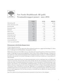 Delårsrapport Q1 2014
