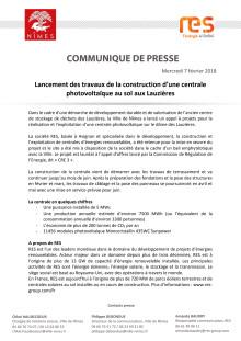 Lancement des travaux de la construction d'une centrale photovoltaïque au sol aux Lauzières