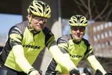 Måns Möller och Christer Skog cyklar för Autism