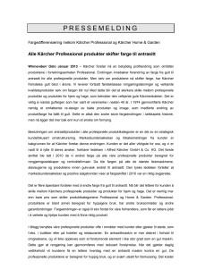 Pressemelding Kärcher Professional Fargeskifte - PDF versjon