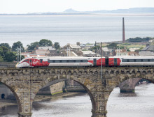 Virgin Azuma arrives in Edinburgh in preparation for driver training programme