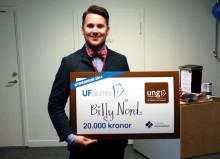 Billy Nord tilldelades stipendium som årets UF-alumn i Jämtland