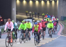 Airport cyclists saddle up for hospice charity challenge