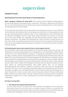 Brand Union wird Superunion: Brand Experience hat einen neuen Namen