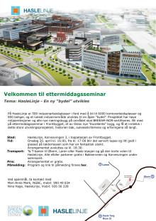 Invitasjon til ettermiddagsseminar på HasleLinje