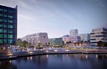 Första spadtag för Lindholmshamnen - får 150 fler lägenheter