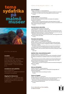 Föreläsningar inom Tema Sydafrika hösten 2009