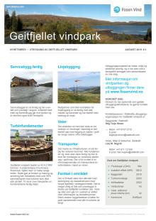 Nyhetsbrev 3 Geitfjellet vindpark, august 2019