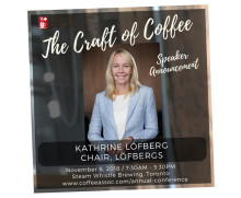 Kathrine Löfberg speaks at national coffee conference in Canada
