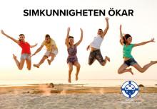 Den upplevda simkunnigheten ökar bland vuxna