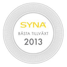 Väsby får pris för bästa tillväxt 2013
