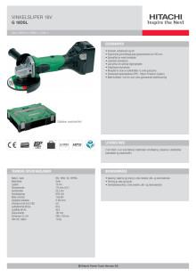 HITACHI Vinkelsliper 18V G18DSL (5,0Ah)