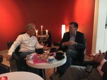 Österrikes ambassadör besökte Julius med anledning av premiären av Sound of Music och den traditionella Nyårskonserten från Wien.