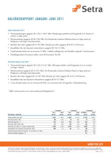 Halvårsrapport 2011 i helhet