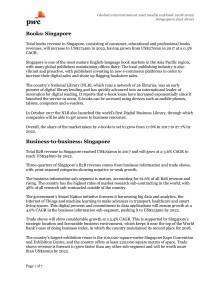 E&M Outlook 2018-2022: Singapore Factsheet