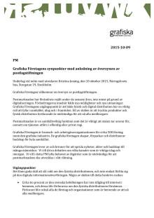 Grafiska Företagens synpunkter med anledning av översynen av postlagstiftningen