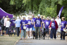 Survivors take a Step Out for Stroke in Bury St Edmunds
