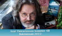 Árni Thórarinsson kommer till Bokmässan i september!