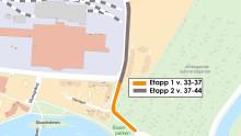 Norrgående körfält på CV-gatan stängs den 12 augusti