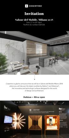 Cosentinokoncernen på Milanos Designvecka 17e-22a april 2018