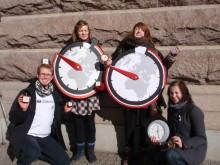 Diakoniaaktivister vårrusar mot klockan - för klimatet