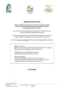 Inbjudan till pressträff med OS-truppen i landsväg 2016
