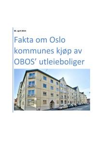 Informasjonshefte om OBOS-oppkjøpet