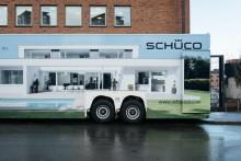 Schücos demolastbil på Sverigeturné 4-13 oktober