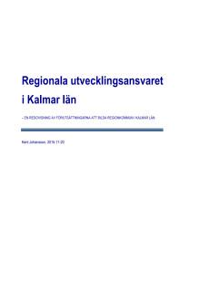 Regionala utvecklingsansvaret i Kalmar län