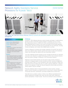 Case study network management: Wataniya Telecom