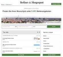 stellenanzeigen.de baut Reichweite in Berlin aus / Berliner Morgenpost setzt auf Lösung von stellenanzeigen.de