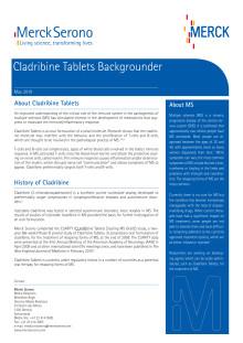 Information om Cladribinetabletten (engelska)