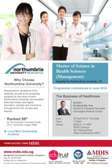Join us for a Talk by Dr Wong Sin Yew on The Business of Healthcare