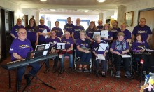 Local stroke choir Makes May Purple in Lancashire