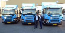De første tre nye Scania til J. Nørgaard Petersen