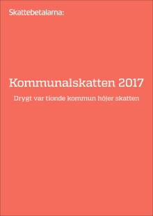 Kommunalskatten 2017: Drygt var tionde kommun höjer skatten