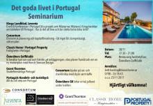 Seminarium om livet i Portugal 30 nov 2017