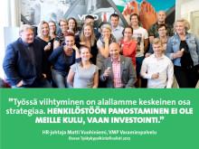 VMP – Eteran Työkykypalkintofinalisti 2017: Vuokratyöntekijän hyvinvoinnista huolehtii kaksi työyhteisöä ja esimiestä