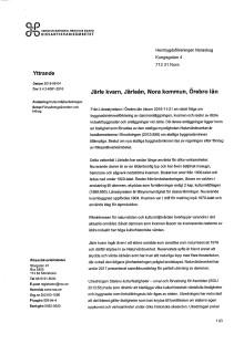 Yttrande från RAÄ ang Järle kvarn och dammar som statligt byggnadsminne