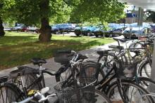 Grönt parkeringsköp vid stadshuset