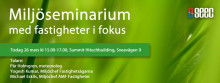 Fastigheter i fokus vid SEECs miljöseminarium 26 mars med Pär Holmgren