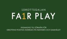 Idrottsgalan lanserar insamlingsstiftelse under namnet Fair Play.