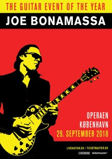 Joe Bonamassa i Operaen lørdag 29. september