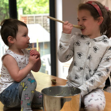 Family continues fundraising mission for The Sick Children's Trust by joining in Big Chocolate Tea