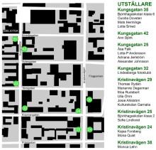 Utställarna på skyltfönsterprojektet i Lindesberg