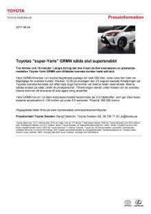 """Toyotas """"super-Yaris"""" GRMN sålde slut supersnabbt"""