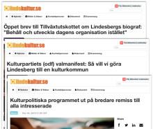 """Nyhetskanalen lindekultur.se allt starkare som """"kulturens röst"""" i Lindesberg"""